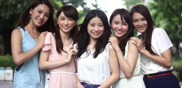 上智大学(千代田区紀尾井町)で開催されるミスコン「ミスソフィアコンテスト2013」の候補者5人